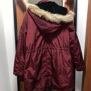 Mossimo Supply Co. Jackets & Coats - Mossimo Burgundy Winter Coat